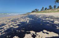 Óleo atinge mais praias do Cabo de Santo Agostinho e voluntários pedem 'luva' e 'trator' por mensagem na areia